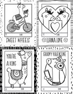 llama valentines page 2