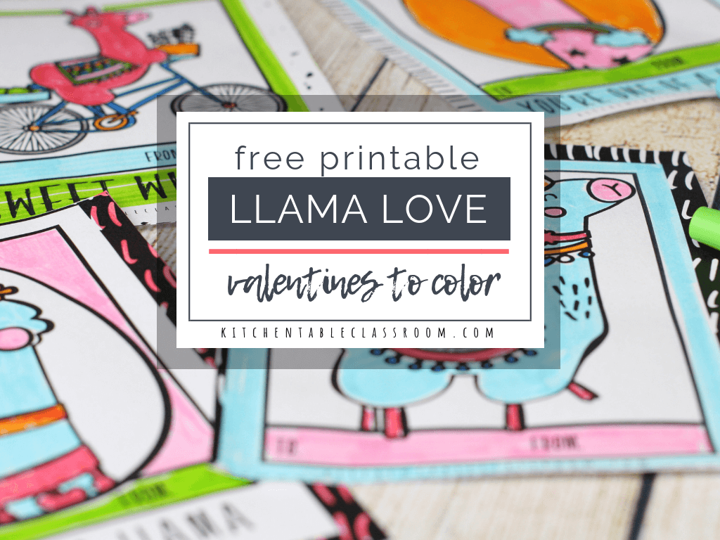 graphic about Free Printable Valentines known as Llama Valentines- No cost Printable Valentines Playing cards toward Shade
