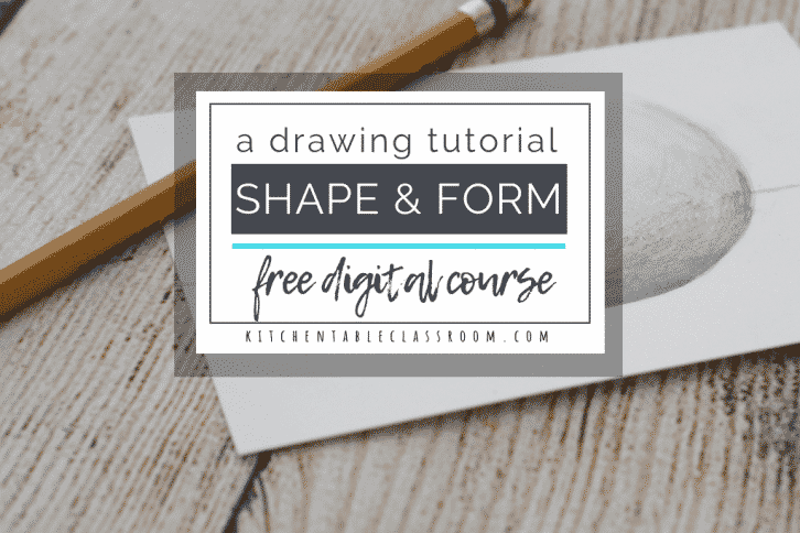Learn drawing skills to turn a circle into a sphere with this free mini online course on shape and form. All you need is pencil, paper, & about 30 minutes!