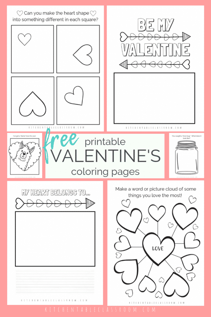 hese free Valentine's Day coloring pages are an easy way to add a little creativity to your day. Draw, write, & color with these free Valentine printables.