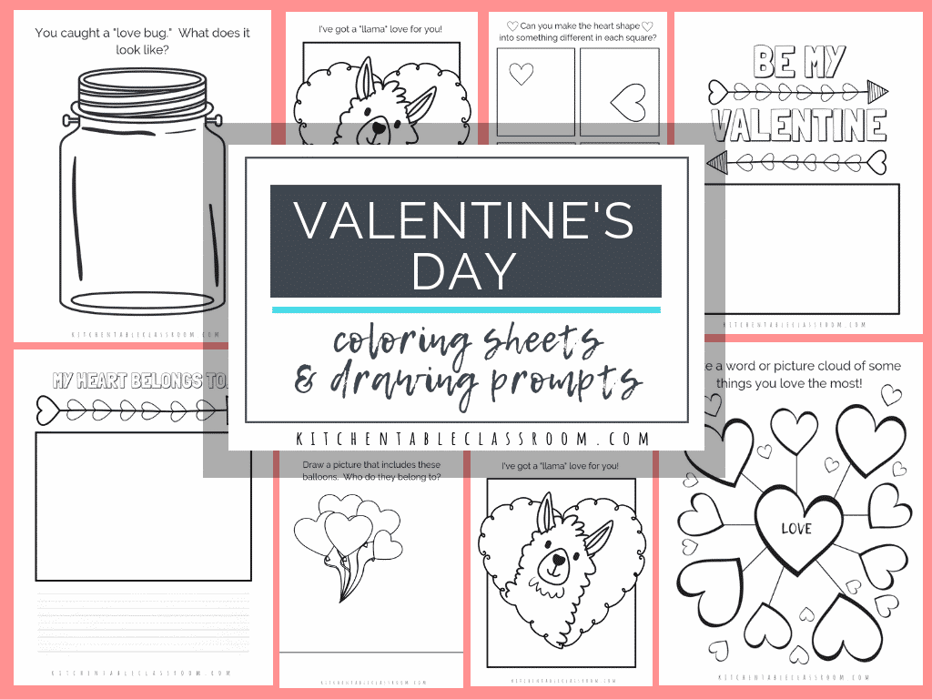 These free Valentine's Day coloring pages are an easy way to add a little creativity to your day. Draw, write, & color with these free Valentine printables.