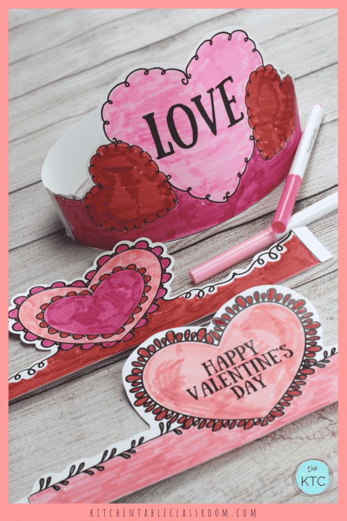 picture about Printable Valentine Craft known as Valentines Working day Headbands- Pleasurable Printable Crowns - The