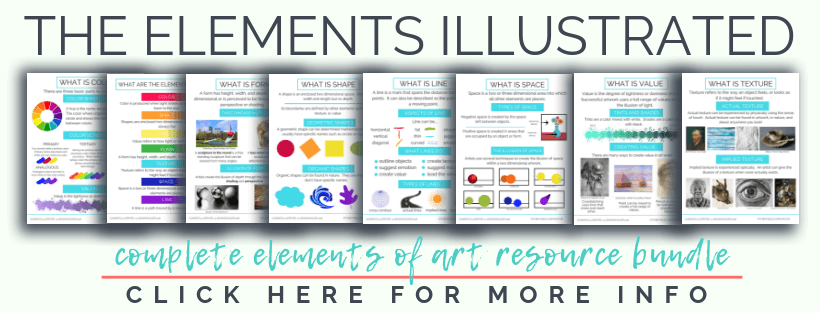The Elements Illustrated is a bundle of digital resources designed to make teaching the elements of art easier!