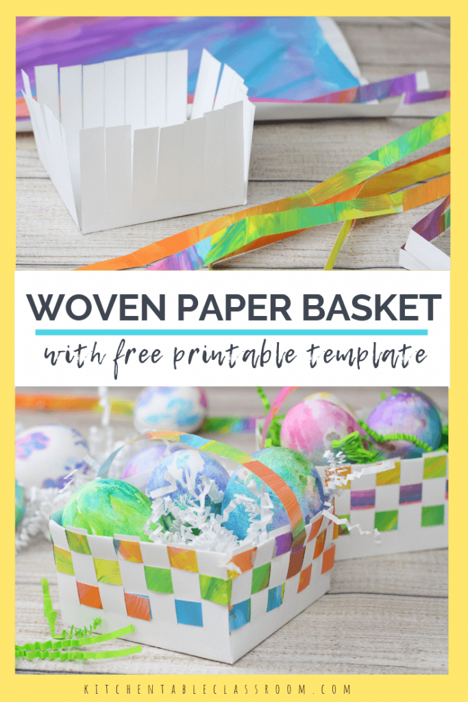 Learn how to make a paper basket using this free printable template. This paper basket weaving will sharpen weaving skills and is so sweet for gifting!