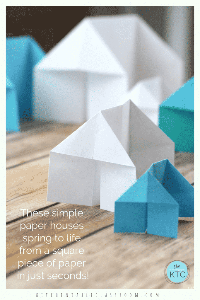 How to make a 3D origami house: page 1 | 1024x683