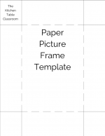 paper picture frame template PNG for gallery