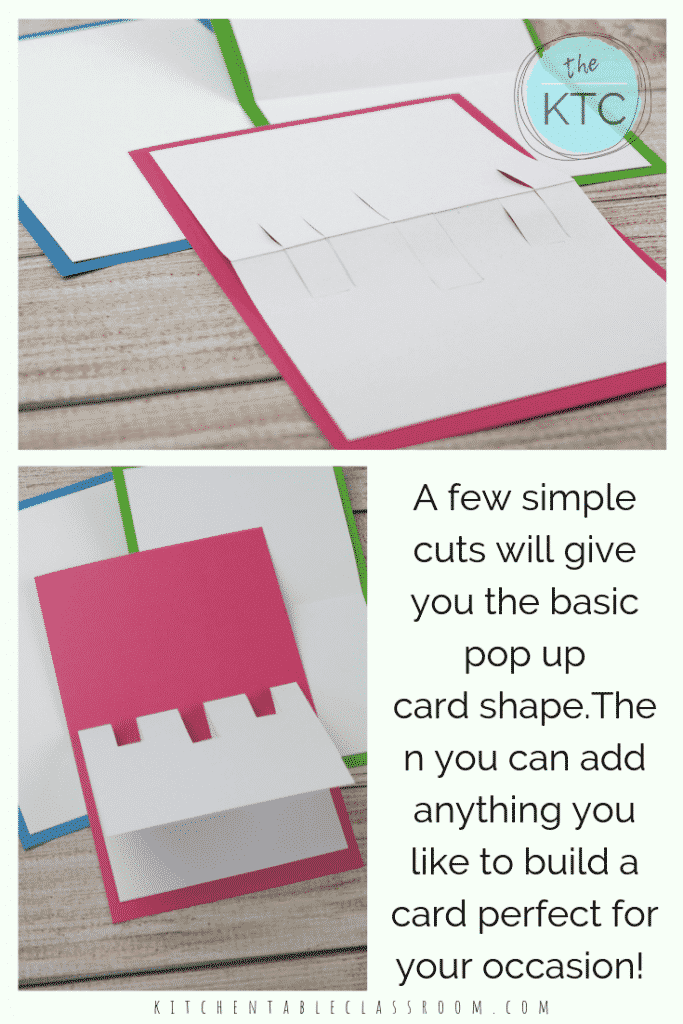 Build your own 3D card with this free pop up card template. Personalize a DIY pop up card with printable illustrations or add your own for any occasion!