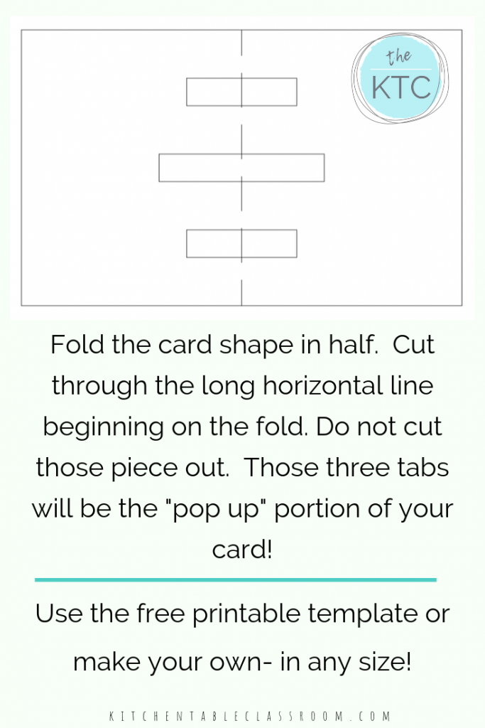 It is a picture of Free Printable Pop Up Card Templates intended for architecture