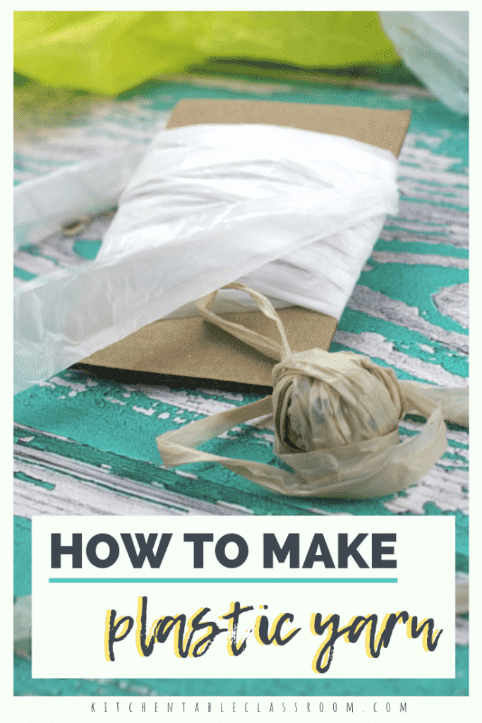 Learn how to turn a plastic bag into a continuous piece of plastic yarn perfect for zero cost crafting with just a few cuts. A video tutorial makes it easy!