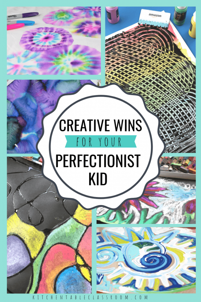 These ideas will provide quick wins for allowing your perfectionist kid to enjoy the creative process. No more frustration- start having fun with art!