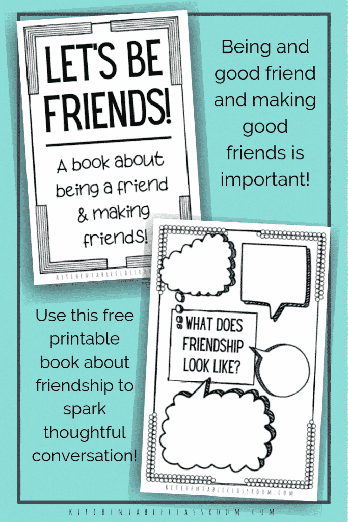 Encourage your kids to be thoughtful and intentional in thinking about how to be a good friend with these free friendship printables.
