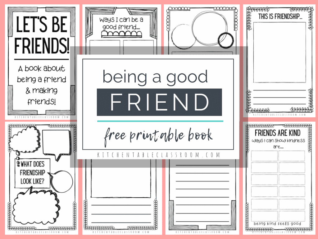 image relating to Printable Book identified as How in direction of Be A Excellent Buddy- A Absolutely free Printable Reserve for Children