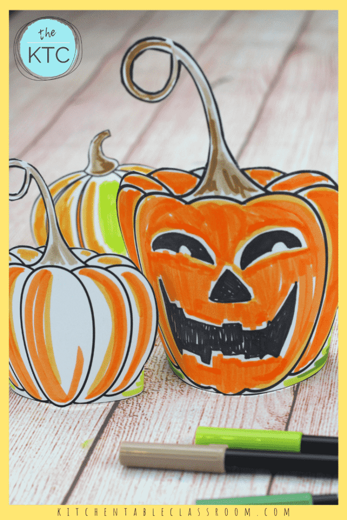 Color your own pumpkin with these free printable pumpkin templates! These paper pumpkin patterns are ready to print, color and brighten your table!
