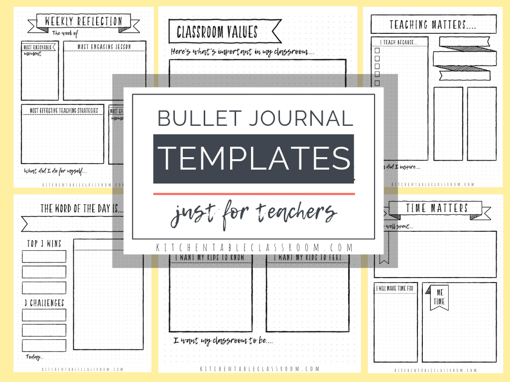 photo regarding Printable Journals named Reflections upon Education and learning- Totally free Bullet Magazine Templates for
