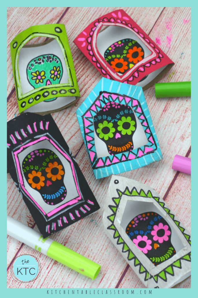 Create your own nicho box, or three dimensional shadowbox frame inspired by the Latin American holiday the Dia de los Muertos. #dayofthedead #diadelosmuertos