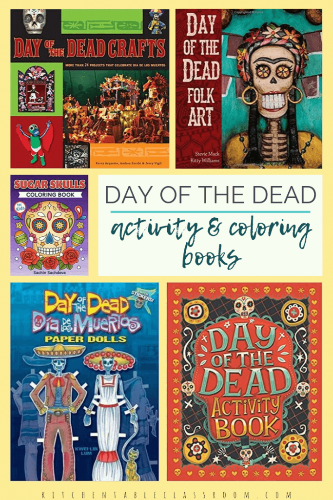 Explore the colorful Latin American holiday with these Day of the Dead children's books and a free Day of the Dead printable resource. #diadelosmuertos