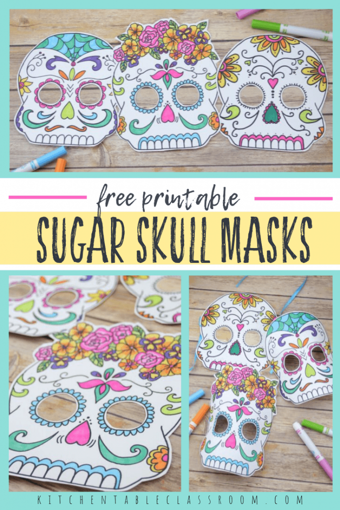 Day of the Dead sugar skull masks