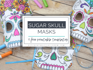 free sugar skull masks