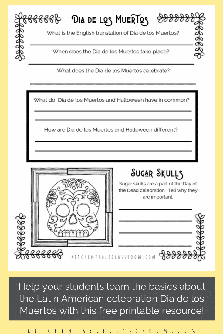 Dia De Los Muertos For Kids Day Of The Dead For Kids The Kitchen Table Classroom