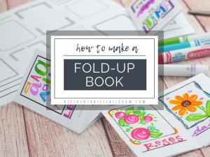 Learn how to make a book from a single piece of paper plus two free printable templates to make adorble single page books perfect for any subject!