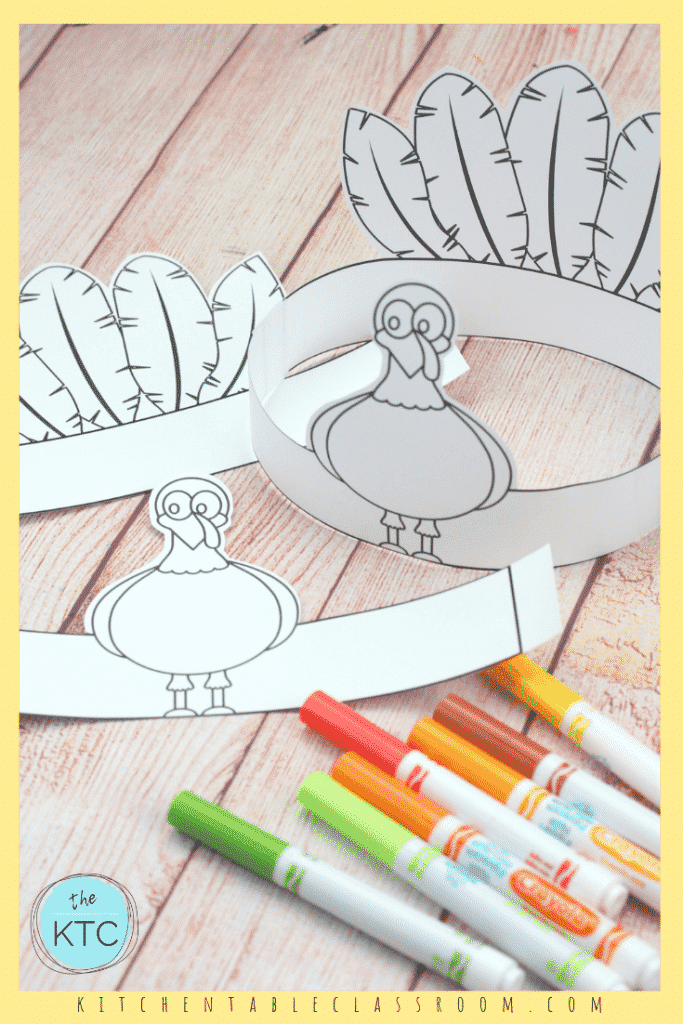 picture relating to Thanksgiving Craft Printable titled Generate Your Personal Turkey Headband-A Printable Thanksgiving Craft