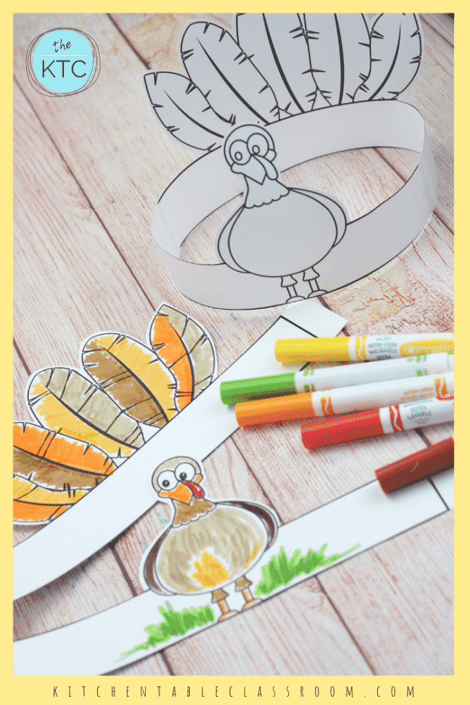 photo about Printable Thanksgiving Craft called Crank out Your Personalized Turkey Headband-A Printable Thanksgiving Craft