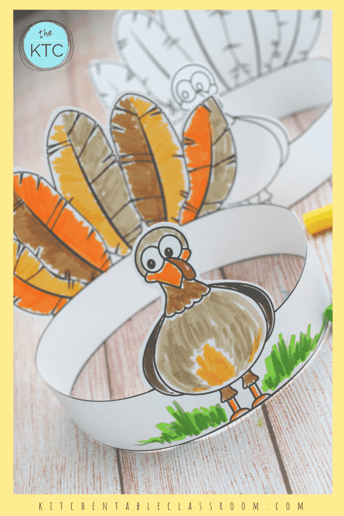 Make Your Own Turkey Headband A Printable Thanksgiving