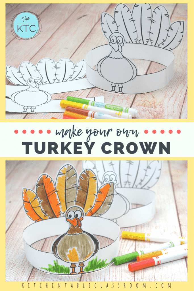 image relating to Printable Thanksgiving Craft named Deliver Your Private Turkey Headband-A Printable Thanksgiving Craft