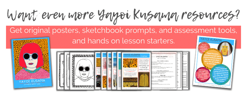Be ready to inspire your kids with the art of Yayoi Kusama using these digital resources!