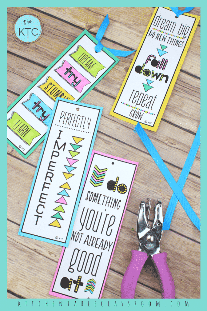 These printable growth mindset bookmarks are ready to print and color. Printable resources like these are an easy way to grow a growth mindset!