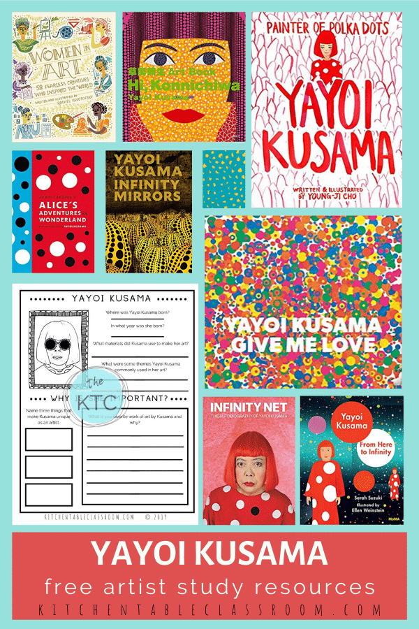 Learn more about the art of Yayoi Kusama with this book list and free printable artist study!