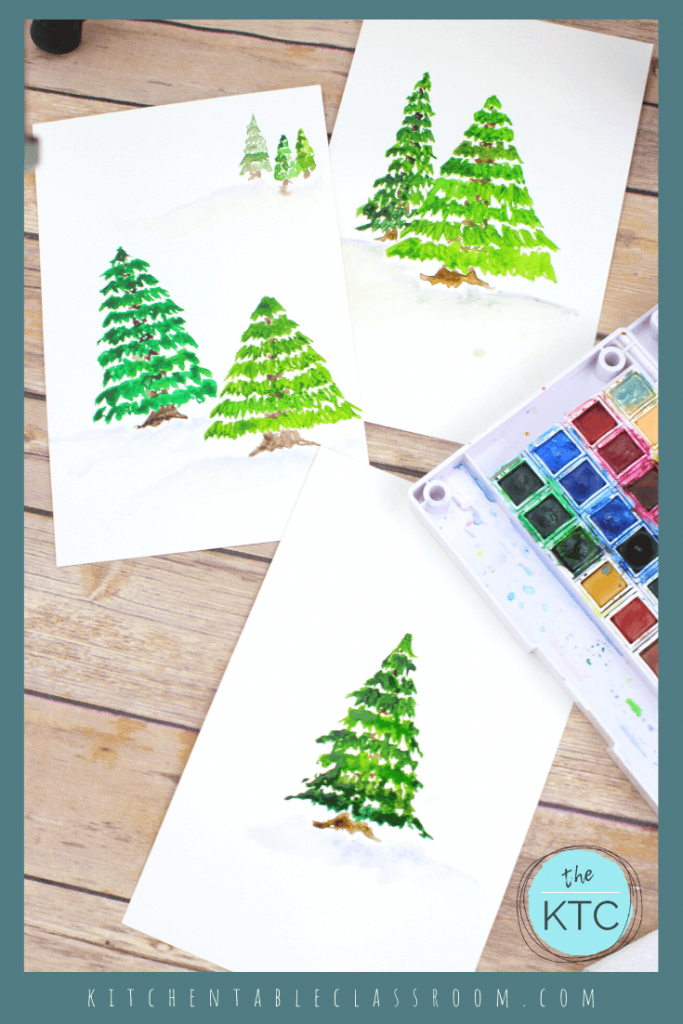 Pine Tree Painting A Watercolor Tutorial The Kitchen Table Classroom