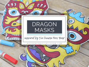 printable Chinese dragon masks to color