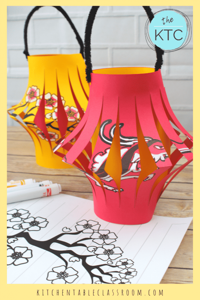 Chinese paper lanterns to make from templates