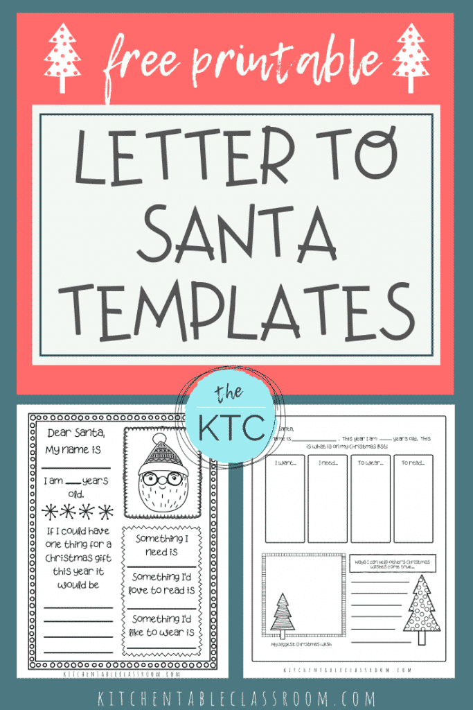 SImplify the Santa letter tradition with this Santa letter template- in two varieties!  Use the free printable letter to Santa template to print & color!