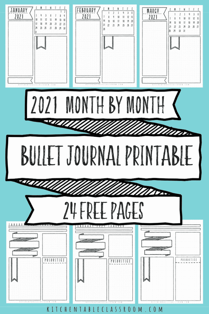 24 bullet journal monthly planning pages
