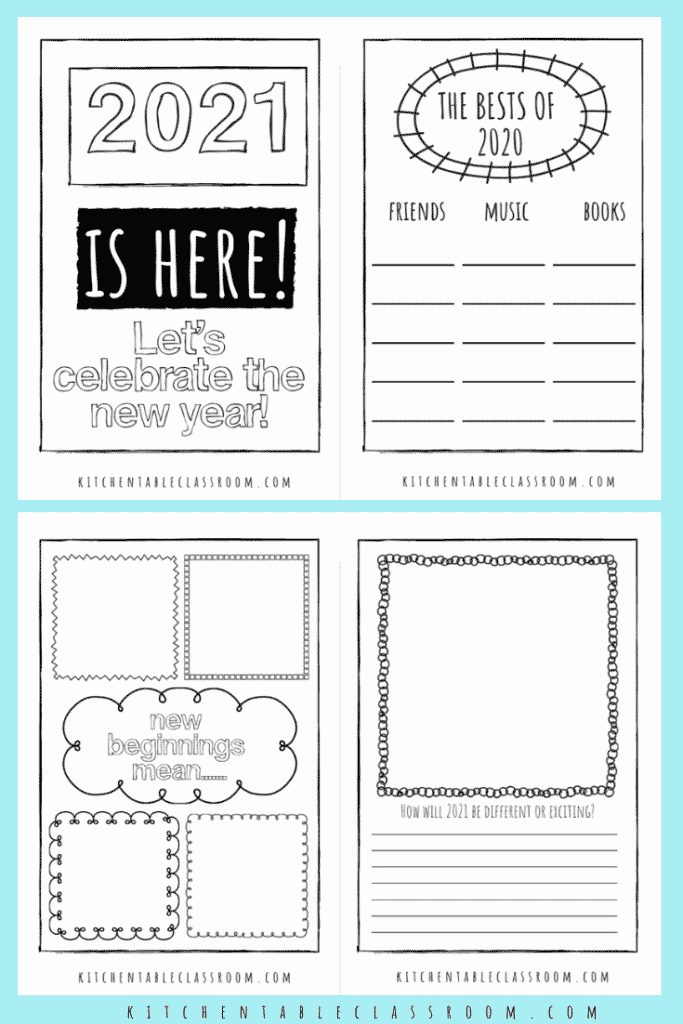 2021 New Year's Eve printable for kids