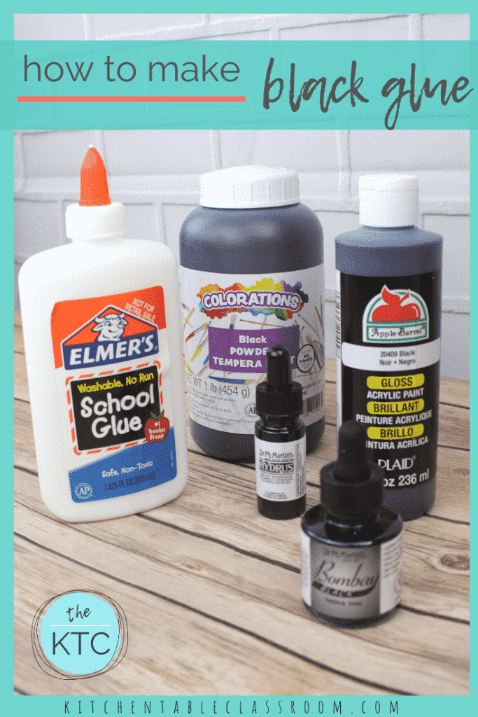 supplies for making black glue