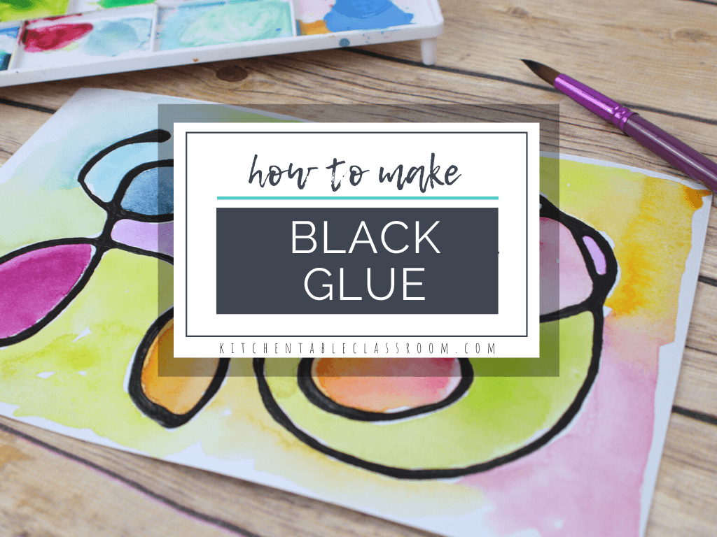 how to make black glue