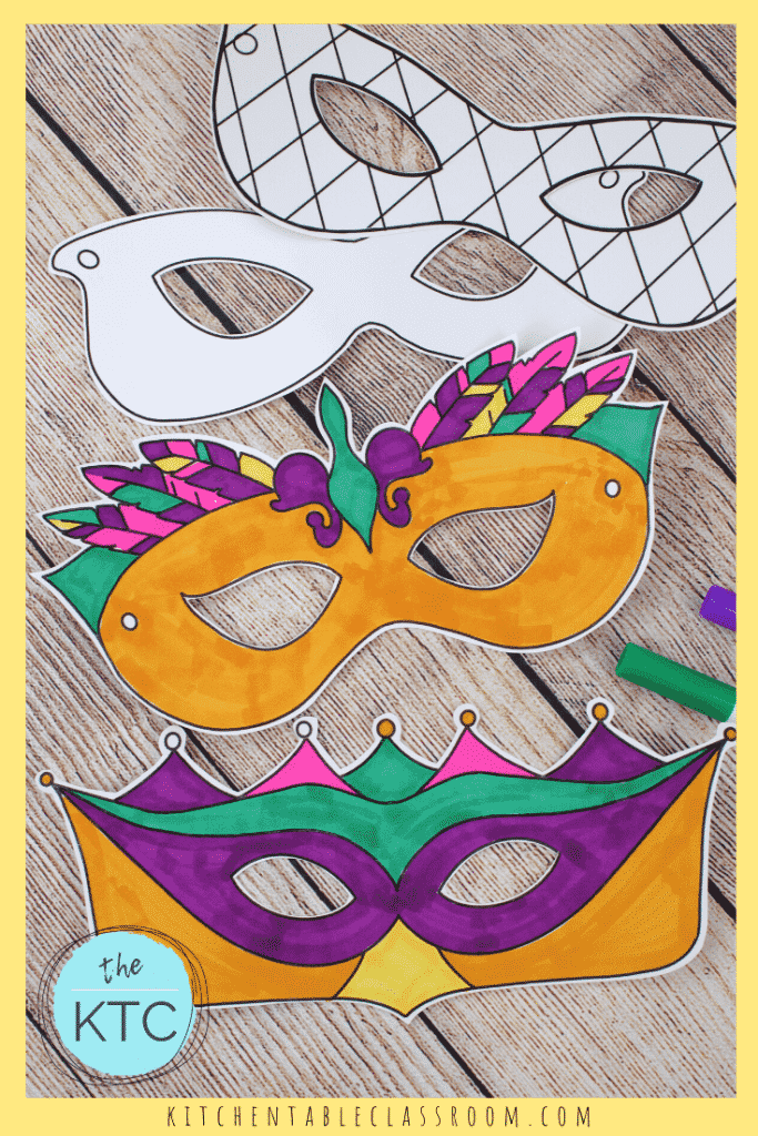 Mardi Gras masks for kids to make