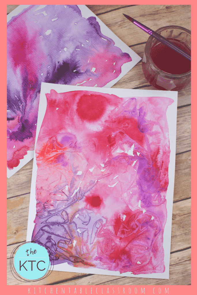 pink and purple watercolor paintings