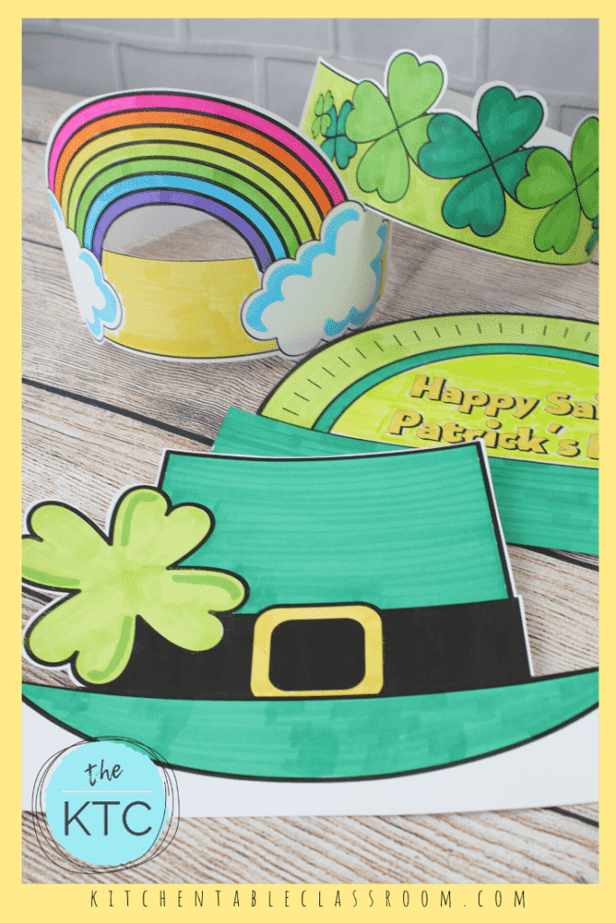 St. Patrick's Day hats for kids to color