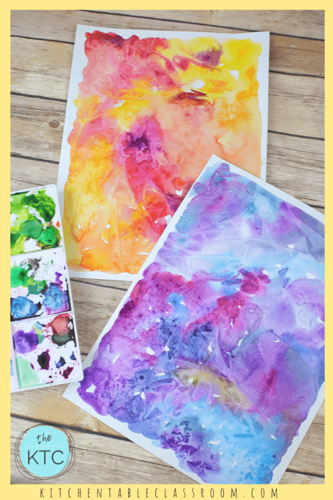 warm and cool watercolor paintings for paper weaving