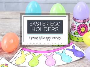 printable Easter egg holders