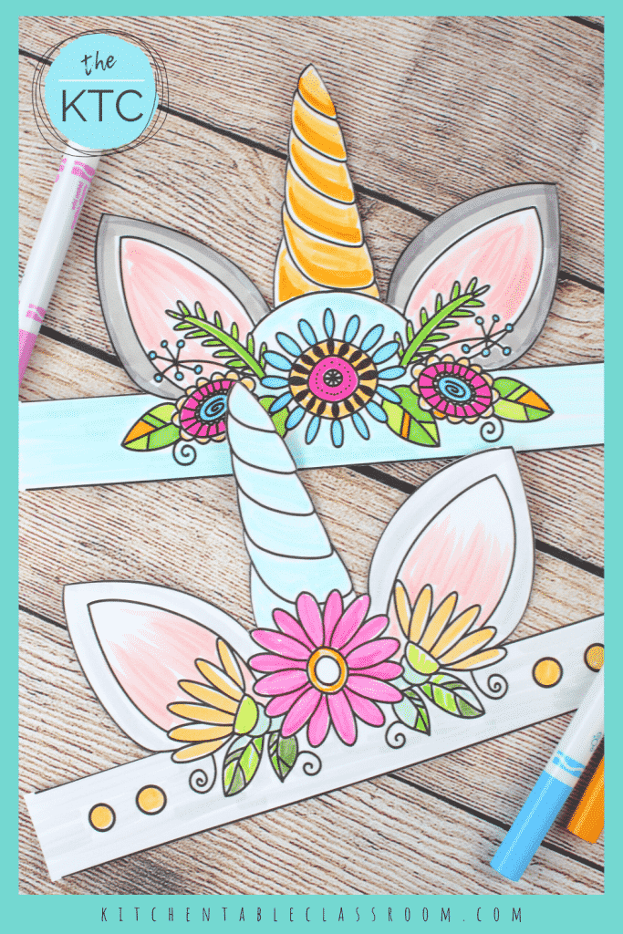 color your own unicorn horn with these free printable unicorn printables