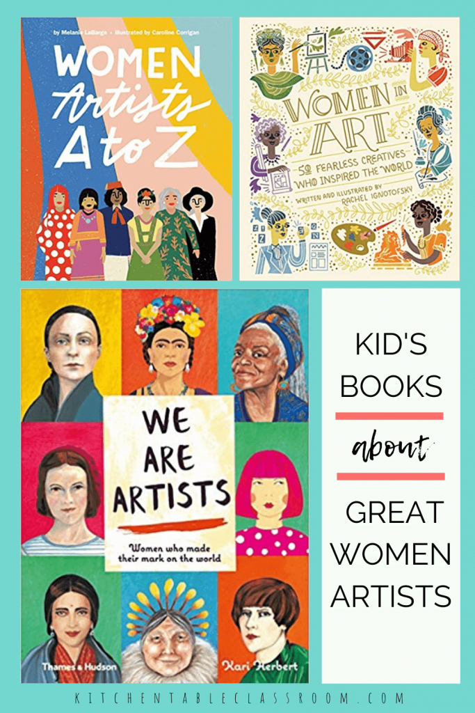kid's books about great women artists
