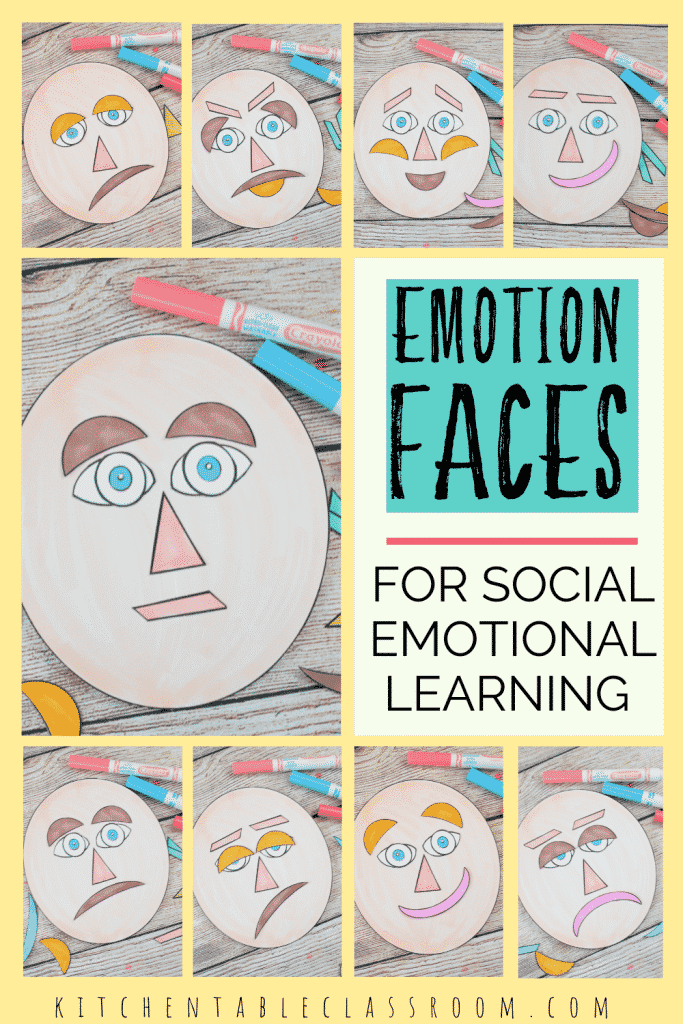 Printable emotions face for kid's social emotional learning