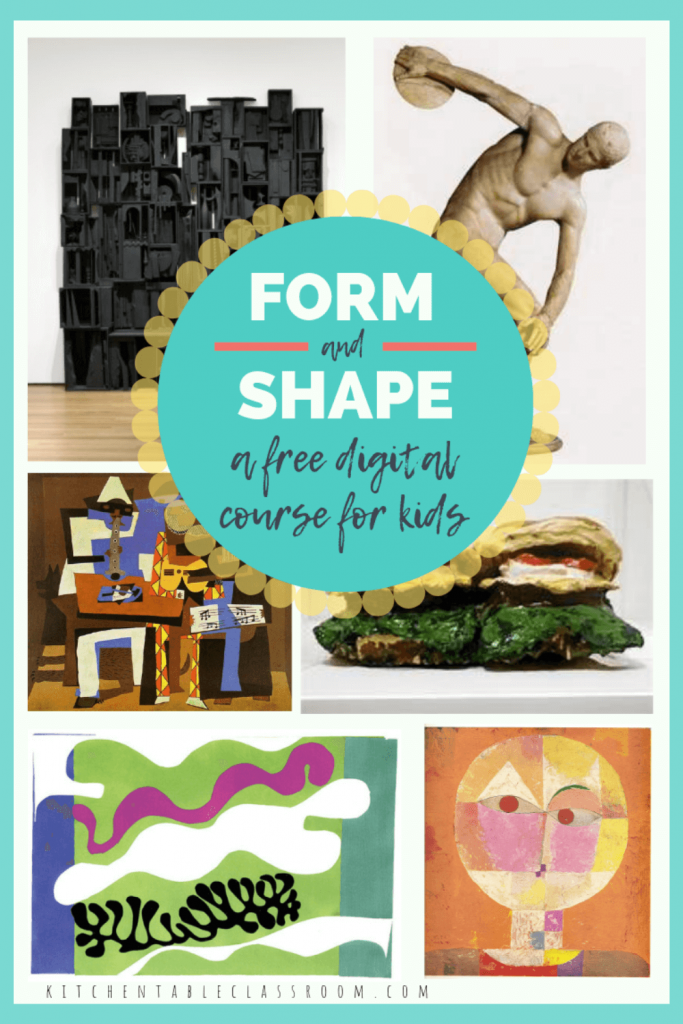free online art classes for kids from Kitchen Table Classroom