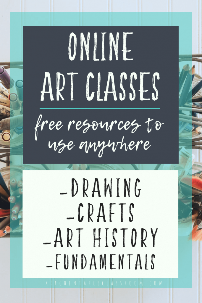 ONline art classes for kids free resources to use anywhere