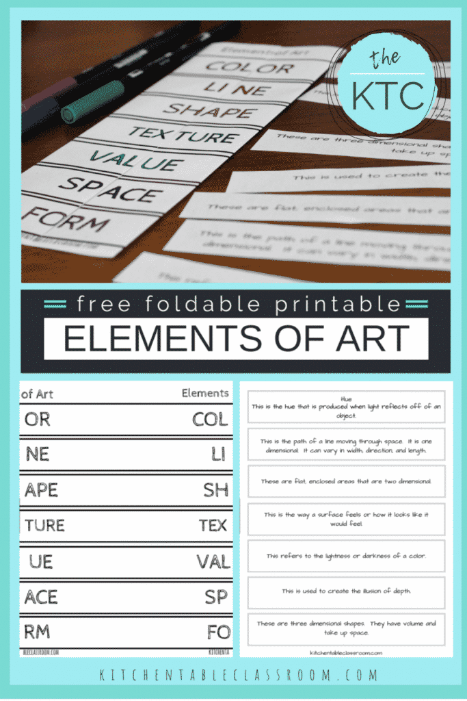 printable about the elements of art and their definitions